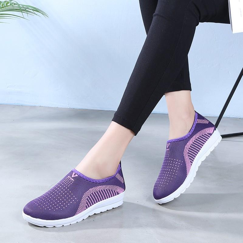 Giày lười nữ phong cách êm chân thoáng khí Size 36 đến 40 V124