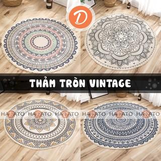 Thảm tròn trải sàn vintage Thảm chùi chân scandinavian – TT 1
