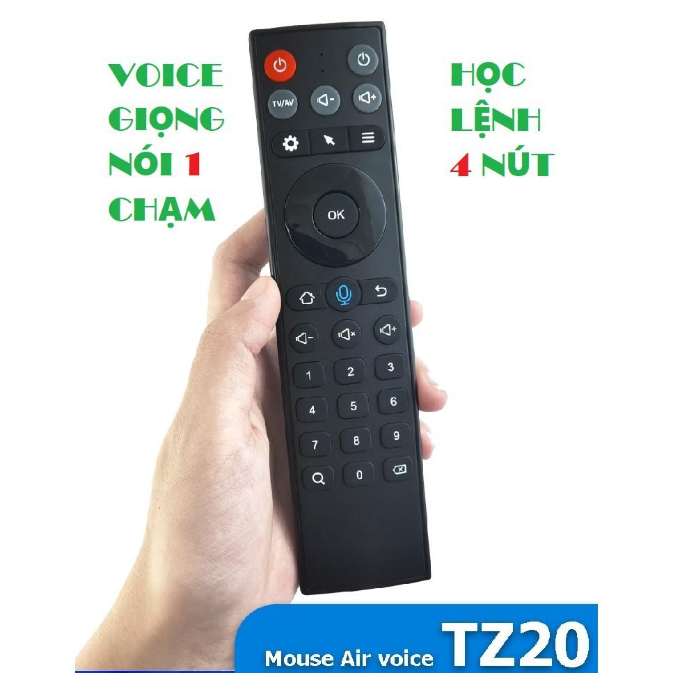 Remote Mouse Air Voice TZ20-M - Điều khiển wireless chuột bay tìm kiếm giọng nói, học lệnh 4 nút