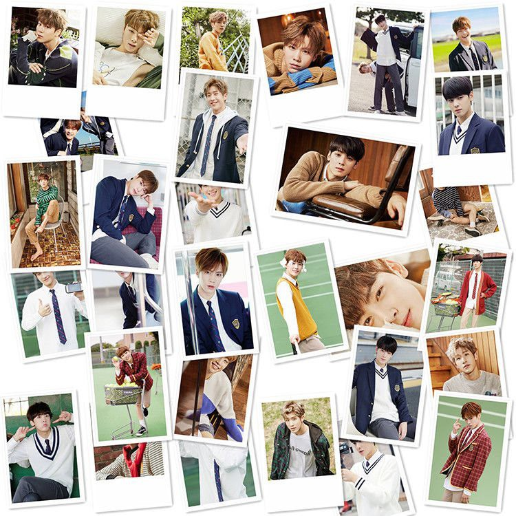 Lomo super junior bộ ảnh, thẻ hình 30 tấm nhóm nhạc idol hàn quốc