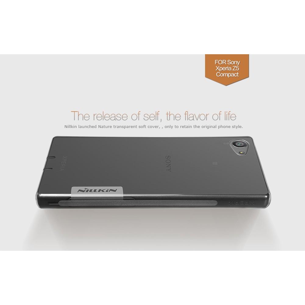 Ốp Sony Xperia Z5 Compact (dẻo trong suốt) hiệu Nillkin