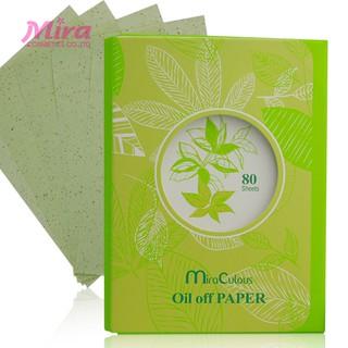 Giấy thấm dầu tinh chất trà xanh MiraCulous Oil Off Paper Hàn Quốc (80 tờ) - Hàng chính hãng thumbnail