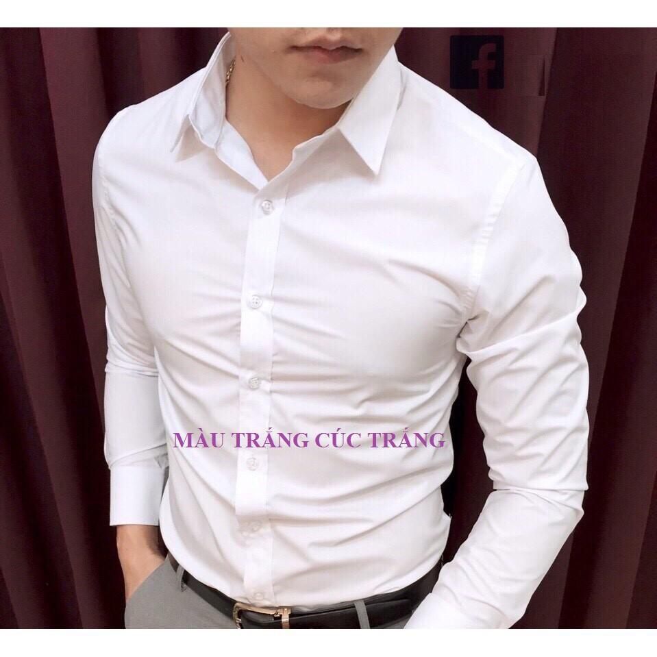Thumbnail of Áo sơ mi nam dài tay Hàn Quốc vải lụa thái chống nhăn cao cấp