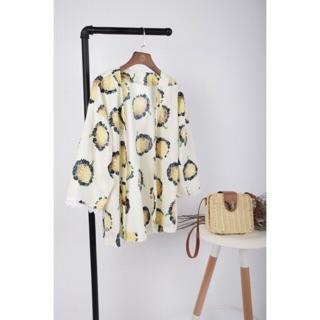Kimono hoa phối ren