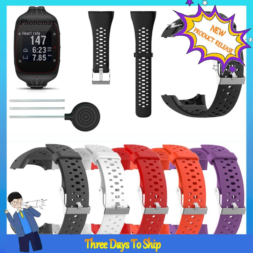 MAX-Replacement Silicone Watchband Wrist Strap for Polar M430 M400 Running Watch