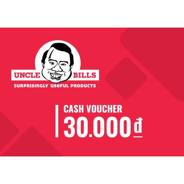 Hồ Chí Minh [Evoucher] Phiếu quà tặng Uncle Bills 30k