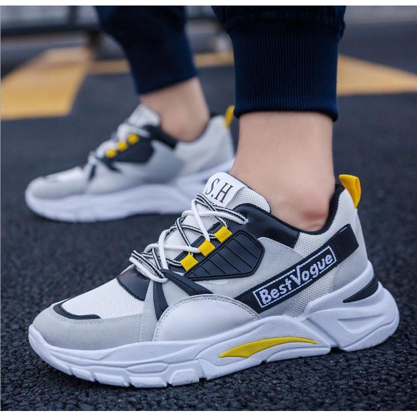 Giày Sneaker thể thao nam BestVogue SH - A8805 - White