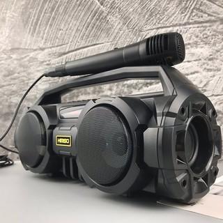 Loa Bluetooth karaoke xách tay Kimiso KM-S1 S2 - 2 Bass Cực Mạnh, Tặng 1 Micro Có Dây Hát Karaoke thumbnail