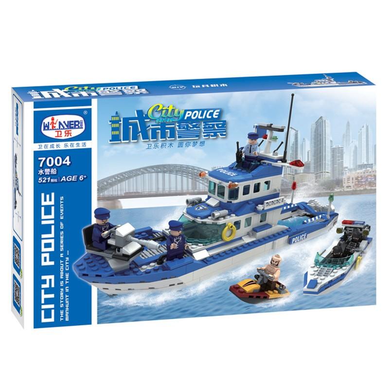 Bộ ghép hình dạng Lego City Polite tàu thủy 7004