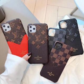 Ốp Điện Thoại Bằng Da Họa Tiết Lv Cho Iphone 11 Promax Xr 7 / 8 Plus