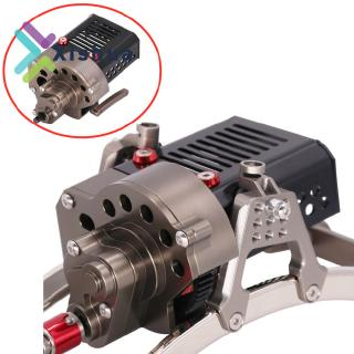 CNC Complete Front Gearbox Transmission Box with Gear for Axial SCX10 1/10 RC Crawler Car