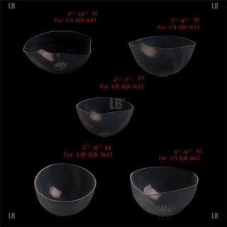 LB❥Doll Clear Silicone Wig Cap Protection Cover for 1/6 1/4 1/3 BJD Doll SD Doll