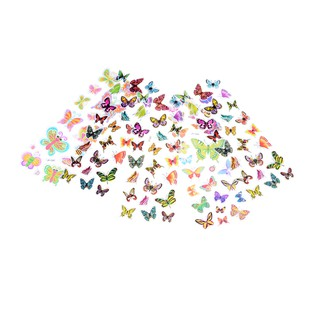 $VN 5 Sheets Colorful 3D Butterflies Scrapbooking Bubble Puffy Stickers