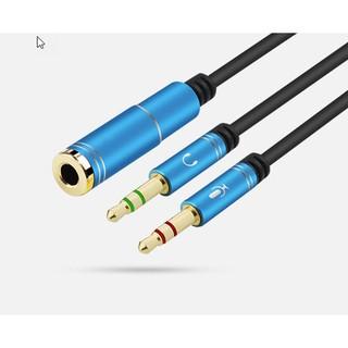 [HCM] Dây 2 đầu Jack loa 3.5 chuyển tai nghe phone thành loa và mic máy tính / gộp audio và mic 3.5 ra tai nghe