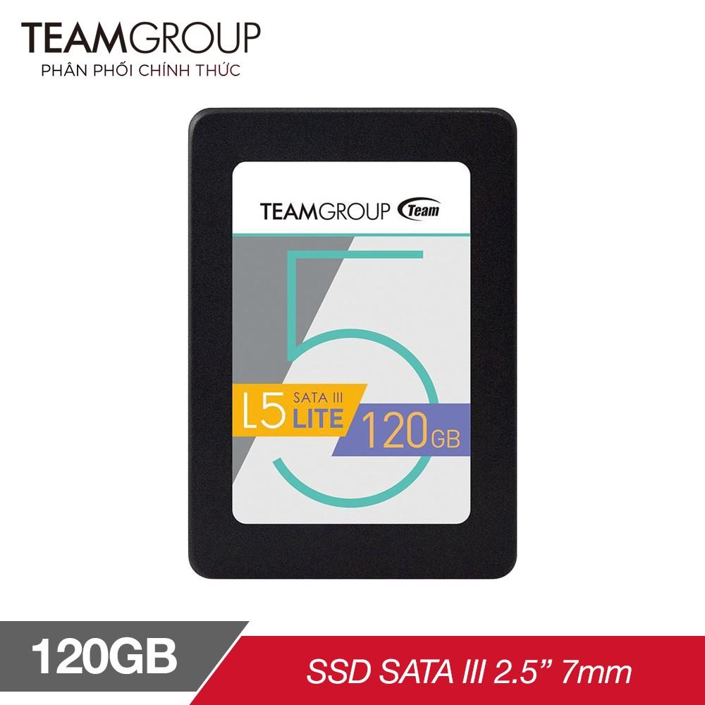 [Nhập ELCL30 hoàn 30K xu đơn bất kỳ] Ổ cứng SSD Team Group L5 LITE 120GB 2.5″ Sata III (Bảo hành 3 năm đổi mới) Giá chỉ 449.000₫