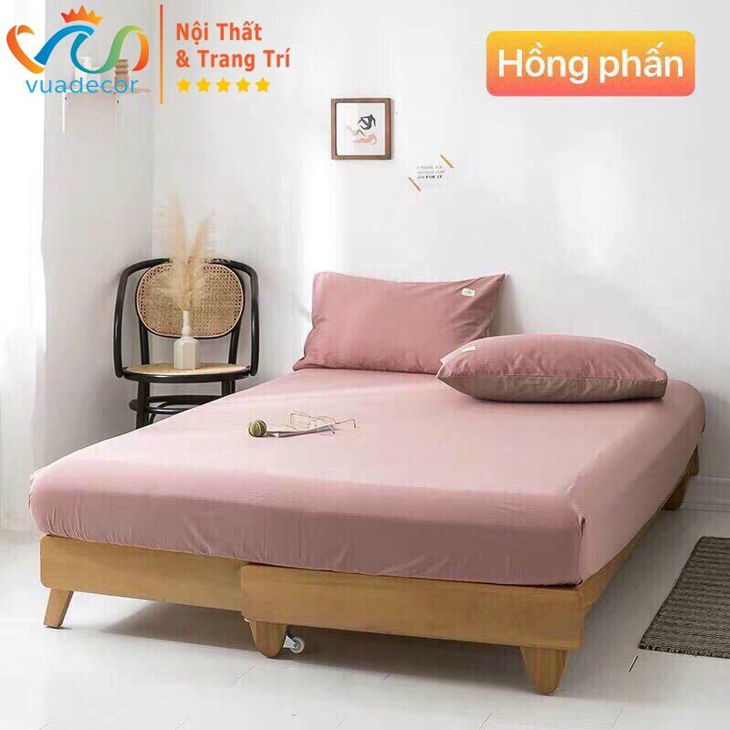 Ga gối cotton VUADECOR phong cách Hàn Quốc, trang trí decor phòng ngủ bedding hàng nhập khẩu cao cấp ( không kèm ruột )