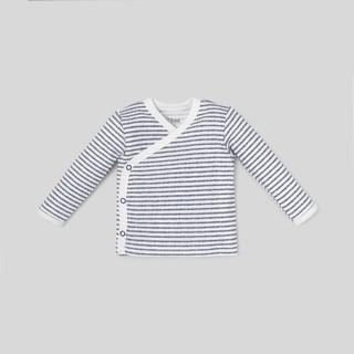 Áo sơ sinh unisex BAA BABY đắp chéo sọc trắng xanh cho bé trai và bé gái - UN-AL01D-002SO thumbnail