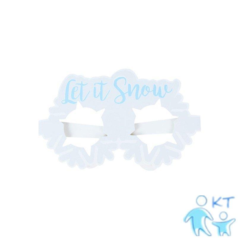 Set 9 Kính 3d Hình Người Tuyết Trang Trí Cây Thông Noel