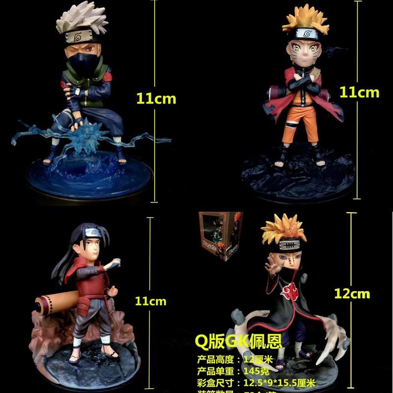 11CM Naruto action figure Hatake Kakashi/Uzumaki Naruto Decoration