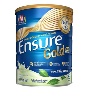 Sữa bột Ensure Gold Abbott hương Trà Xanh 850g