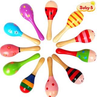 Lục lạc gỗ cho bé âm thanh vui nhộn nhiều màu sắc thiết kế đơn giản mà bắt mắt cho bé yêu thích mê Baby-S SDC035 thumbnail