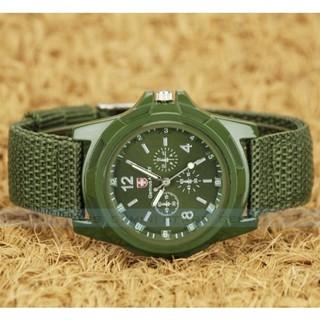 Đồng hồ Nam Nữ Army mặt tròn dây dù trẻ trung