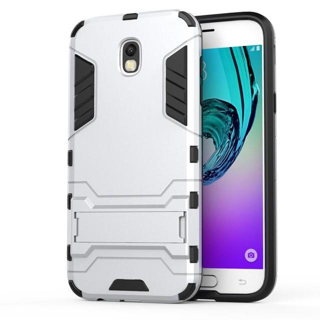 Ốp lưng chống sốc kiếm giá đỡ Iron Man cho Samsung Galaxy J5 2017 (Bạc)