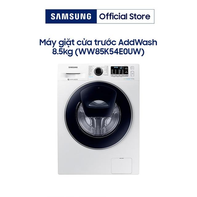 Miễn phí lắp đặt-Máy Giặt Cửa Trước Samsung Inverter Addwash WW85K54E0UW/SV