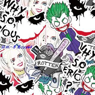 Bộ 5 Sticker Nhân Vật Harley Quinn