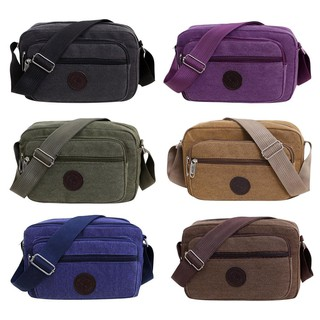 🍇🍋Fashion Canvas Crossbody Shoulder Bags Men Zip Casual Travel Messenger Pack