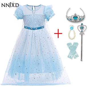 Đầm Hóa Trang Công Chúa Elsa Anna 2 Cho Bé Gái Từ 4-10 Tuổi