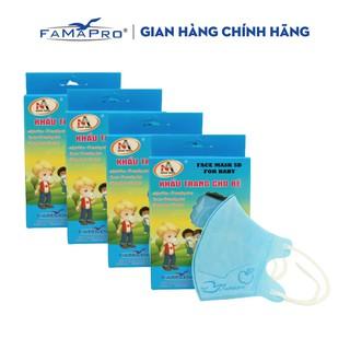 Combo 4 hộp khẩu trang y tế 3 lớp kháng khuẩn trẻ em Famapro 5D Baby (10 cái hộp) thumbnail