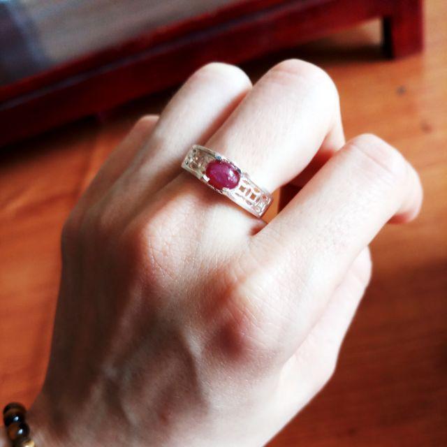 Nhẫn bạc đá ruby yên bái