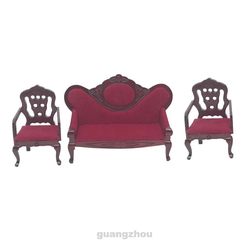 Set 3 Mô Hình Ghế Sofa Thu Nhỏ Tỉ Lệ 1: 12 Trang Trí Nhà Búp Bê