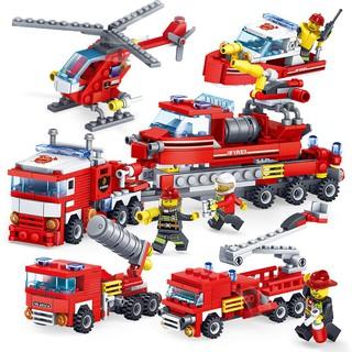 bộ đồ chơi lắp ráp mô hình xe cứu hỏa