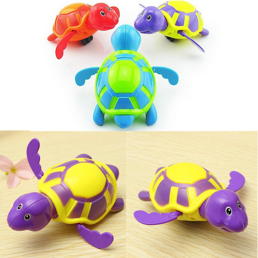 [Highples♕] Creative Kids Baby Swimming Turtle Chain Clowork Bathing Wind Up Toys