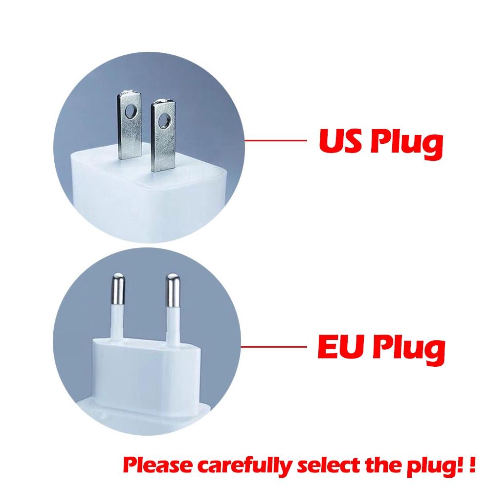 Củ sạc nhanh USB QC 3.0 phích cắm EU / US cho điện thoại di động
