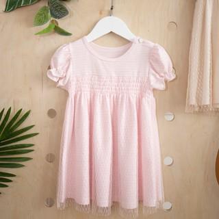 Váy Phủ Lưới Nhún Ngực Cho Bé 0-3 Tuổi Abbieoh B046 AW19 thumbnail