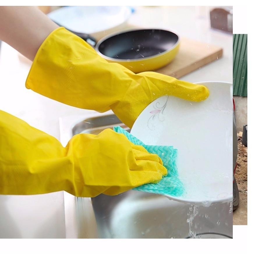 găng tay cao su rửa bát, vệ sinh cao cấp