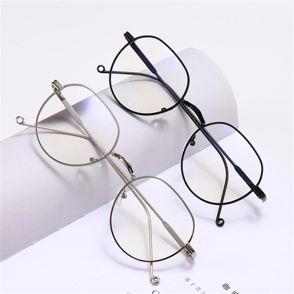 👗KAREN💍 Fashion Optical Spectacle Ultralight Eyeglasses Flat Mirror Eyewear Round Frame High-definition Metal Unisex Myopia Glasses/Multicolor