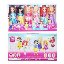 Bộ 6 búp bê mô phỏng 6 nàng công chúa trong phim hoạt hình của Disney