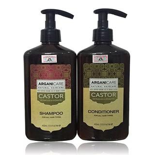 Bộ gội xả dưỡng ẩm phục hồi chống rụng tóc Arganicare Castor for all hair types 400mlx2 thumbnail