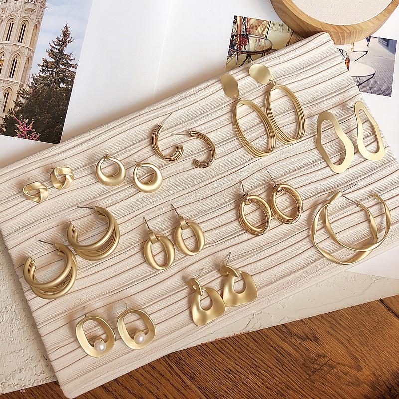 Khuyên tai Bông tai mạ vàng phong cách Hàn Quốc cổ điển đơn giản dành cho nữ - Mely 1361