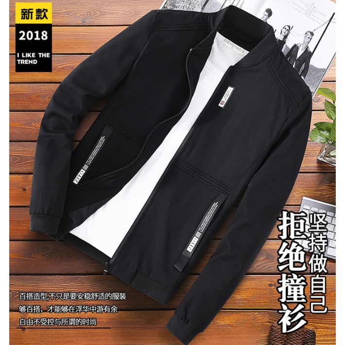 Áo khoác nam đơn giản dễ dàng phối đồ - ấm áp