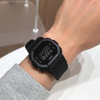 Đồng hồ điện tử nam nữ SPORTS S012 mặt đen cực đẹp, đèn led nhiều màu