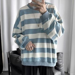 Áo Sweater Tay Dài Kẻ Sọc Thời Trang Cho Cặp Đôi