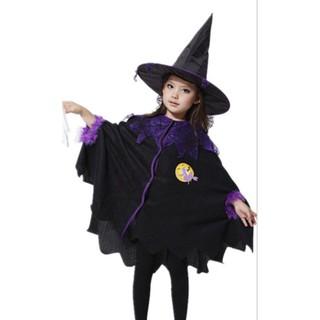 Bộ áo choàng và nón phù thủy tím cho lễ hội hóa trang Halloween