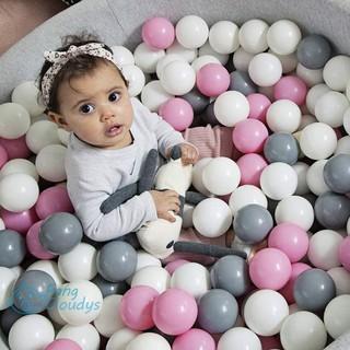 Set 50/100 bóng Macaroon từ PVC dùng làm đồ chơi nhà banh cho trẻ em trên 6 tháng tuổi