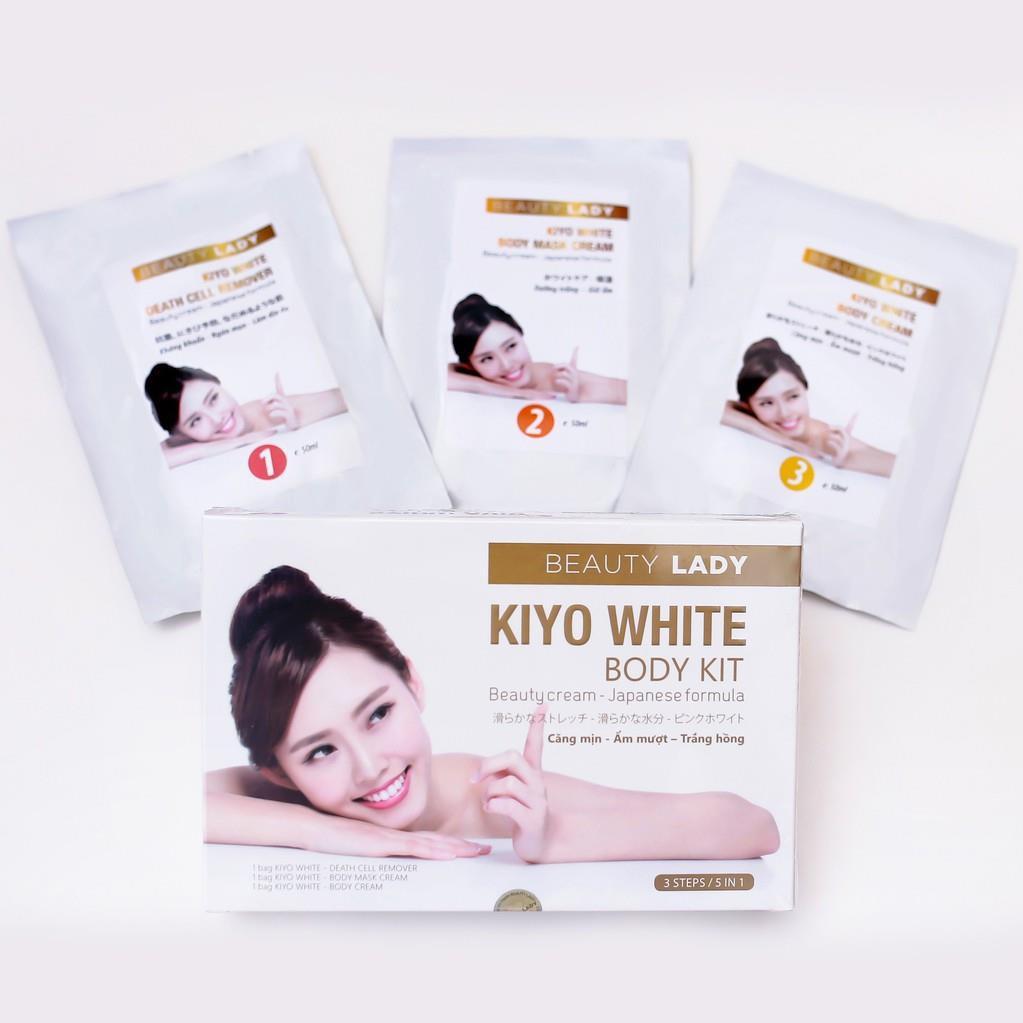 Bộ Tắm Trắng Toàn Thân Kiyo White Body Kit Beauty Lady 150ml