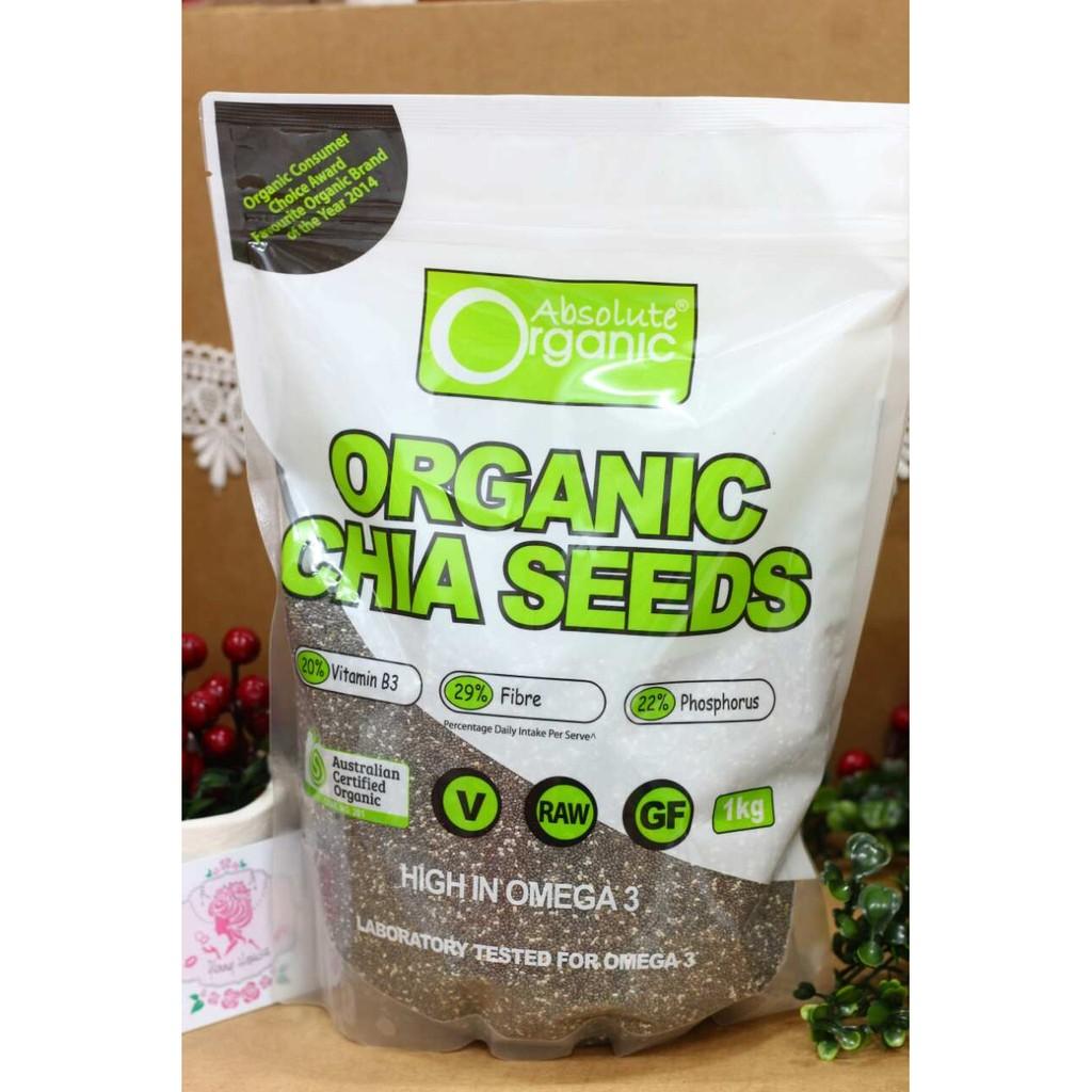 Hạt Chia Úc - Chia Seeds High In Omega 3 Absolute Organic 1kg